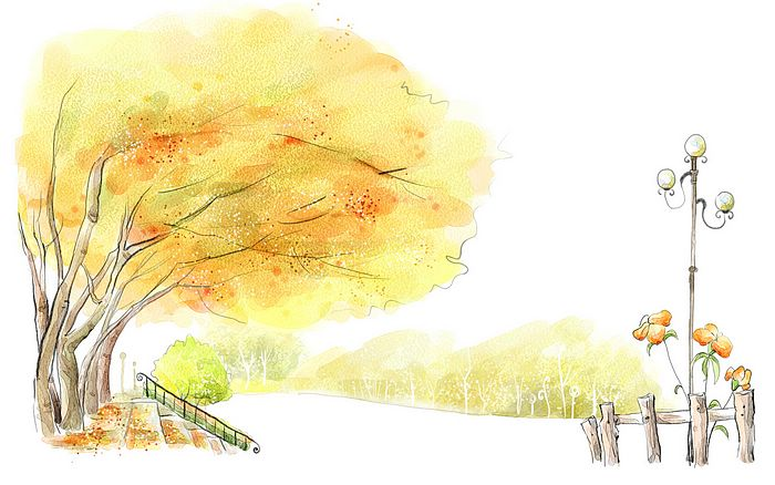 Autumn Season Drawing Autumn Drawings Romantic