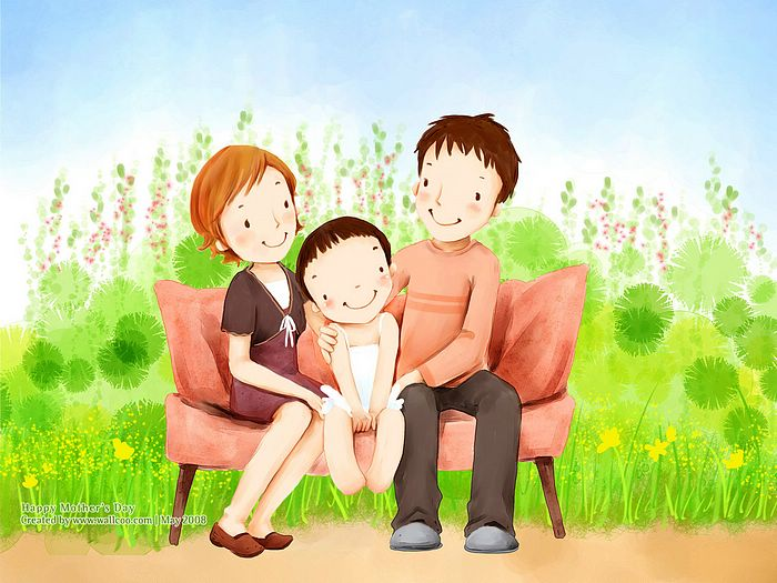 Happy Family Cartoon | Home Concepts Ideas