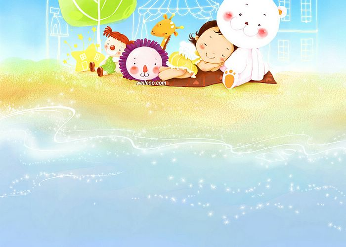 fun girl wallpaper.  Sweet Girl Art Illustration Wallpaper 、Cartoon Girl Art painting,