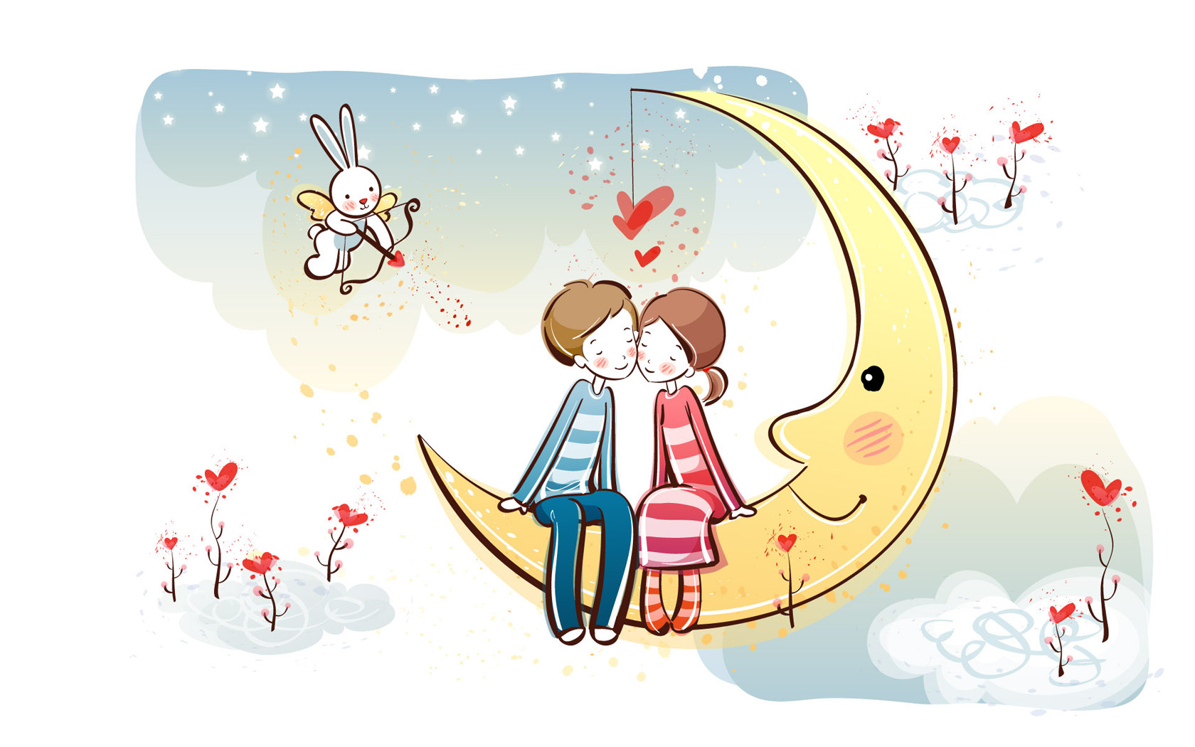 Wallpaper Fall In Love cartoon : Valentine/Lovers on Pinterest Romantic Love, Valentines and couple cartoon