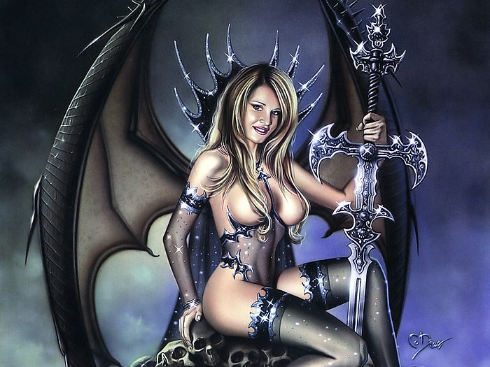 ... Dark, Adult Fantasy Illustrations by Various Artists. pin-up style ...