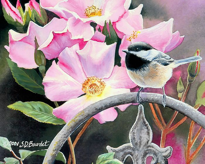 Watercolor painting by Serena Rose, Garden of Life is one in a
