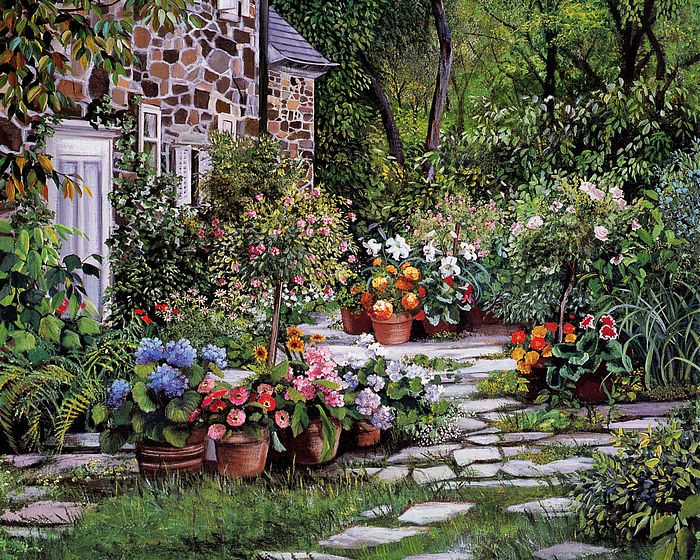 Brilliant Garden Art Paintings 700 x 560 · 190 kB · jpeg