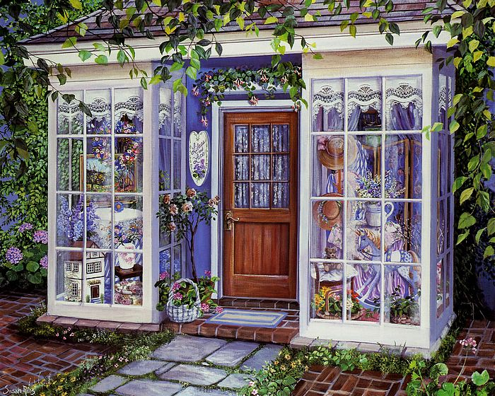 lilacs and lace susan rios paintings of charming victorian shop 25. Black Bedroom Furniture Sets. Home Design Ideas