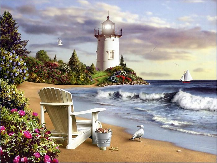 Lighthouse oil painting,Lighthouse oil paintings,Lighthouse