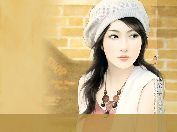 Beautiful Chinese Girl Paintings Wallpaper 9 - Wallcoo.