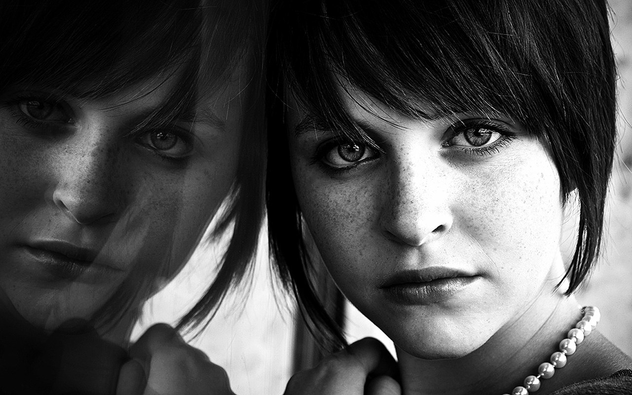 Woman Portrait Photography Black And White
