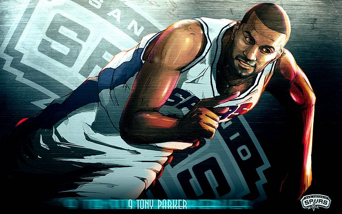 21cn wallpaper. NBA: 2009-10 San Antonio Spurs Players Wallpapers - Tony Parker - Amazing